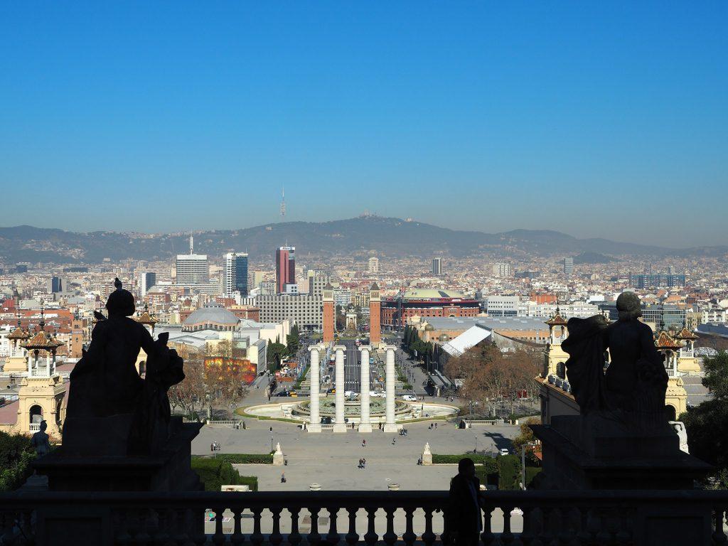 MNAC カタルーニャ美術館からの景色